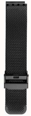 Bering 男士米兰尼斯黑色网布表带 PT-15540-BMBX