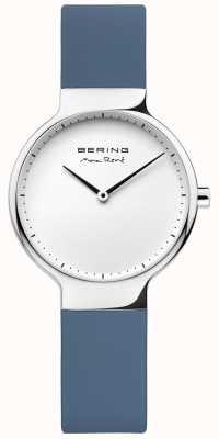 Bering 女士最大rené可互换蓝色橡胶表带 15531-700
