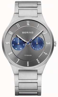 Bering 男士钛金灰色计时腕表 11539-777