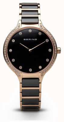 Bering 女士黑色陶瓷氧化锆套装手表 30434-746