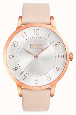 Hugo Boss 女性日食粉色皮革手表 1502407