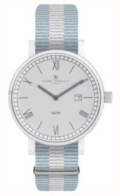 Smart Turnout 县手表 - 银色与椭圆形表带 STK1/SV/56/W