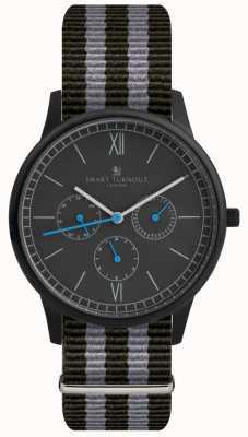 Smart Turnout 时间腕表 - 带黑色表带的黑色腕表 STK2/BK/56/W