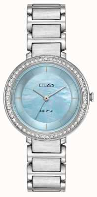 Citizen 女人生态驱动器剪影水晶蓝 EM0480-52N