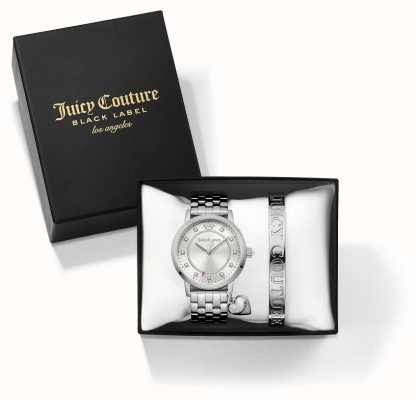 Juicy Couture 女人socialite银手镯和手表礼物套装 1950010