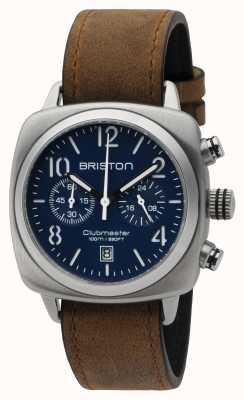 Briston 男装clubmaster经典钢chrono哑光蓝色 16140.S.C.15.LVBR