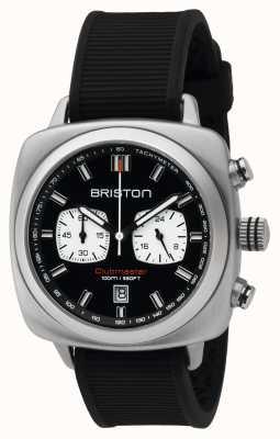 Briston 男士clubmaster运动钢chrono黑色 16142.S.SP.1.RB