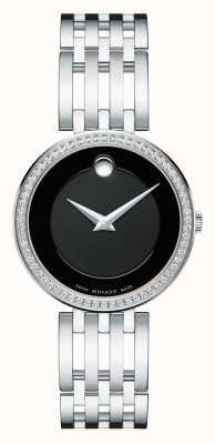 Movado 女士esperanza 63钻石表圈黑色表盘 0607052