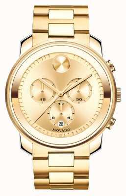 Movado 大号加大计时黄金离子镀K1水晶 3600278