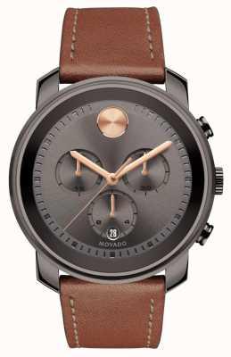 Movado 大胆的灰色表盘计时男士腕表 3600421