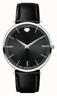 Movado 男士超薄不锈钢黑色表盘 0607086