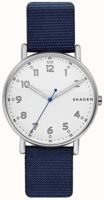 Skagen 男士signatur蓝色表带白色表盘 SKW6356