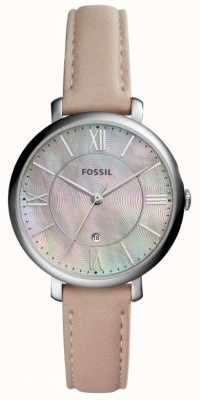 Fossil 女人jacqueline拖把表盘粉红色皮革表带 ES4151