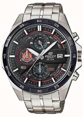 Casio 男士不锈钢黑色表盘chrono EFR-556DB-1AVUEF