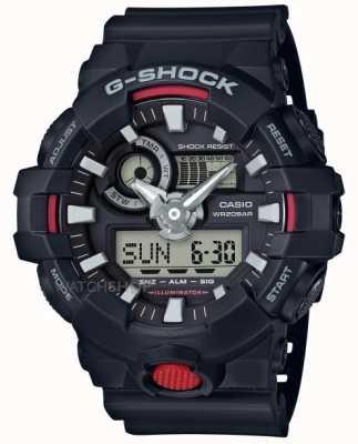 Casio 男士g-shock报警计时码表黑色 GA-700-1AER