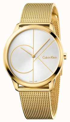 Calvin Klein 男士最小手表|金网不锈钢表带| K3M21526
