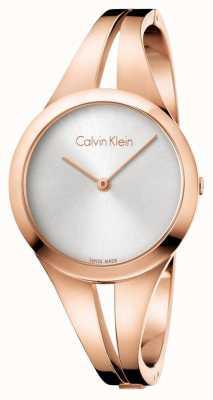 Calvin Klein 女人吸引玫瑰金手镯 K7W2M616