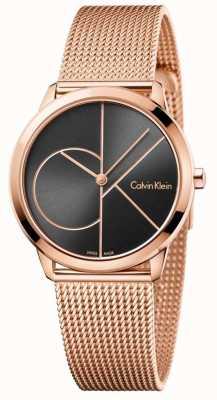 Calvin Klein 女士最小玫瑰金网眼表带 K3M22621