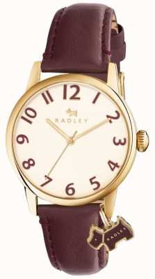 Radley Womans利物浦街道酒红色皮革表带 RY2454