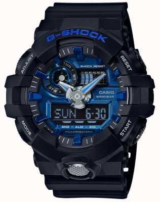 Casio 男士g-shock蓝色警报计时码表 GA-710-1A2ER