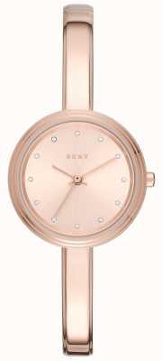 DKNY 女人墨累玫瑰色调手镯手表 NY2600