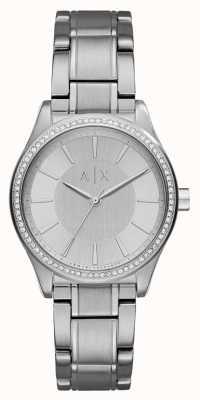 Armani Exchange 女人钢银礼服手表 AX5440