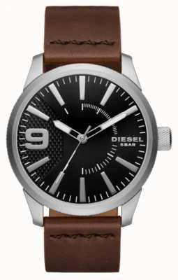 Diesel 男士锉黑色和不锈钢 DZ1802