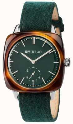 Briston 男士clubmaster复古绿色织物表带绿色表盘 17440.SA.TV.16.LFBG