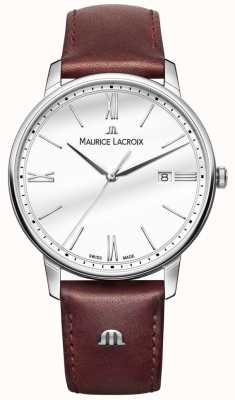 Maurice Lacroix Eliros男士棕色真皮表带手表 EL1118-SS001-113-1