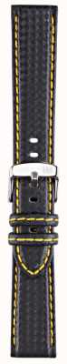 Morellato 仅表带 - 骑自行车techno黑色/黄色20毫米 A01U3586977897CR20