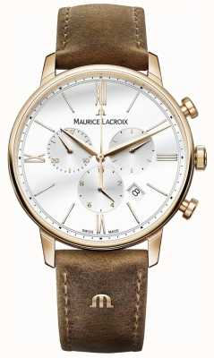 Maurice Lacroix 男士eliros计时棕色小牛皮表带 EL1098-PVP01-113-1