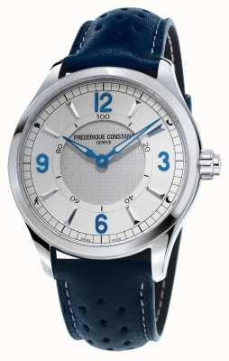 Frederique Constant 男士钟表smartwatch蓝牙蓝色皮表带 FC-282X5B6
