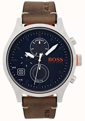 Hugo Boss Orange 男士阿姆斯特丹棕色皮革 1550021