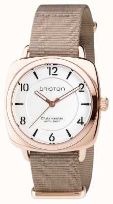 Briston Clubmaster别致的钢 -  hms金白色表盘 17536.SPRG.L.2.NT