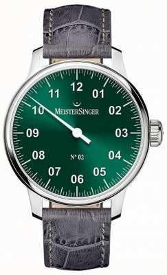 MeisterSinger 男士经典号码。 2手卷绕森伯斯特绿色 AM6609N