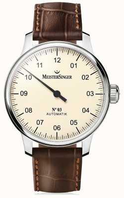 MeisterSinger 男士经典号码。 3自动象牙 AM903
