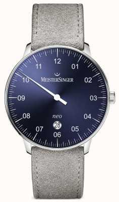MeisterSinger 男装形式和风格新加自动阳光蓝 NE408
