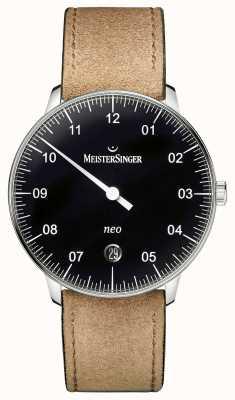 MeisterSinger 男装形式和风格新自动黑色 NE902N