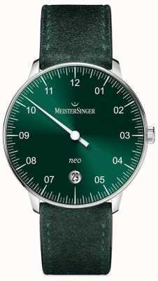 MeisterSinger 男装形式和风格新自动阳光绿色 NE909N