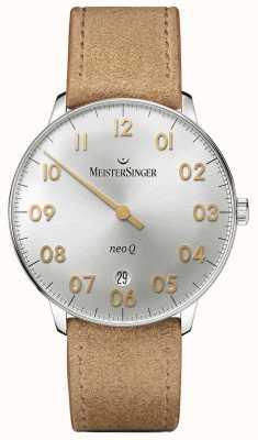 MeisterSinger 男士形式和风格neo q quarz sunburst银 NQ901GN