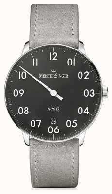 MeisterSinger 男士形式和风格neo q quarz黑色 NQ902N