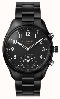 Kronaby 43毫米顶点蓝牙黑色pvd金属表带a1000-0731 S0731/1