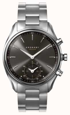 Kronaby 43毫米sekel蓝牙黑色表盘不锈钢smartwatch A1000-0720