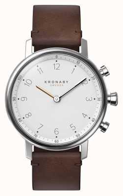 Kronaby 38毫米nord蓝牙棕色皮表带a1000-0711 S0711/1