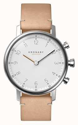 Kronaby 38毫米nord蓝牙米色真皮表带a1000-0712 S0712/1
