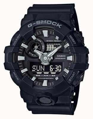 Casio 男士g-shock黑色闹钟计时码表 GA-700-1BER