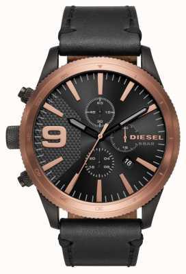 Diesel 男士锉刀计时玫瑰金/黑色手表 DZ4445