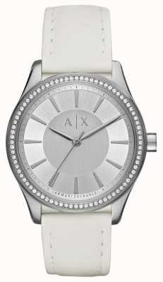 Armani Exchange 女士们nicolette白色表带手表 AX5445