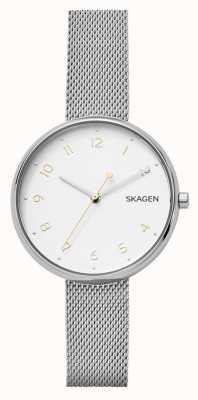 Skagen 女人签名银色不锈钢网状手镯 SKW2623