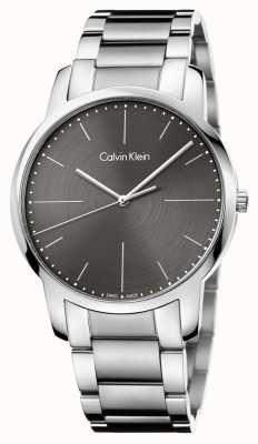 Calvin Klein 男士城市不锈钢手链灰色表盘 K2G2G1Z3